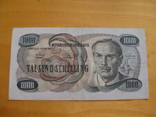 1000 Schilling BANKNOTE Viktor Kaplan 1961 Geldschein Papiergeld
