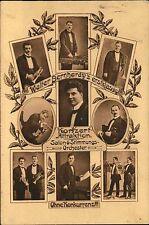 1918 Stempel Frankenberg auf AK Walter Bernhardy`s Konzert Attraktion Orchester