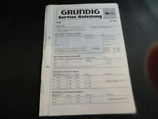 Original Service Manual Schaltplan Grundig RF 810