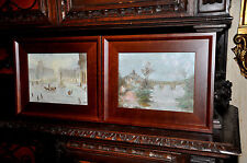 1 Pair of Vintage Original Parisian and French Paintings by the same Artist
