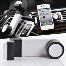 White Car Air Vent Outlet Rotate Phone Bracket Clip Case Holder Mount for iPhone