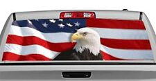 Truck Rear Window Decal Graphic [US Flag 1 Eagle Centered] 20x65in DC28402