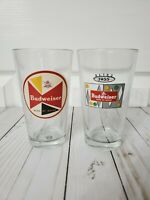 Budweiser Vintage Style Pint Glasses King Of Beers Retro 16oz. Group of 2