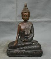 Bouddhisme thaïlandais temple bronze rouge statue de bouddha shakyamuni amitabha