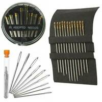 Self-threading Needles 9/12/30 Pack Assorted Sizes Thread Sewing Stitching Pins