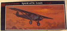 """USA Ryan NYP """"Spirit of St. Louis"""", 1/48 Glencoe kit 03101, 1988, Airplane Model"""