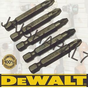 DEWALT 5 x 50mm PZ2 POZI SCREWDRIVER BITS Fits  IMPACT DRIVERS, MAKITA, DEWALT