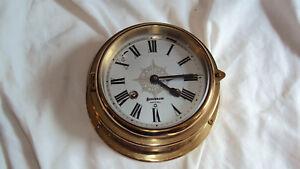 Vintage German Benchmark Brass Ships bell ship striking clock 8 day runs repair