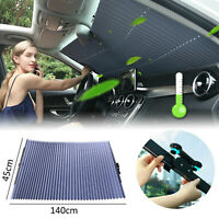 Auto Shade Car Retractable Curtain UV Protection Front Windshield SunVisor