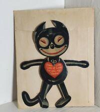 Vintage Anthropomorphic Felix Cat Valentine Card Mechanical Germany Envelop 1929