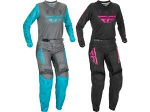 Fly Racing Women's F-16 Jersey & Pant Combo Set MX/ATV Offroad Riding Gear 2021