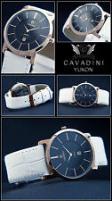 Classic Moments Luxury Cavadini Unisex Designer Watch IP Rose Gold Plated