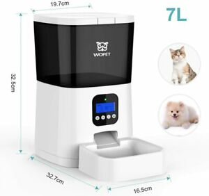WOpet Automatic Pet Feeder 7 L - White