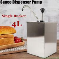 Stainless Steel Condiment Dispenser Ketchup Mustard Sauce Pump Single Bucket