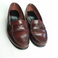 G. H. Bass & Co Shoes Penny Loafers Mens Size 8.5 Leather Flat Slip On Brown