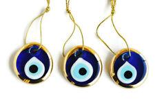 3 Pcs Evil Eye Charms, Turkish Evil Eye Wall Hanging , Evil Eye Protection NAZAR