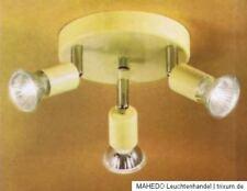 decken Spot Deckenlampe Deckenstrahler Rondell EGLO Mini 3x Gu10 Halogen beige