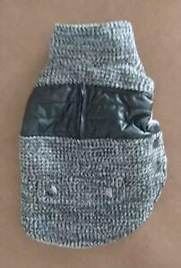 Dog Jacket (London) by FuzzYard - Size 1 (26-29cm) - Grey Merle