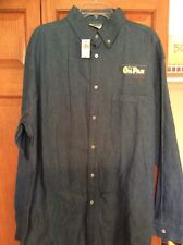 Disney Pixar Oil Pan Denim Shirt XLarge Never  Tire 100% Pure Rubber New w Tags