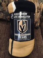 VEGAS GOLDEN KNIGHTS FLEECE BLANKET THROW NHL Officially Licensed NEW NWT