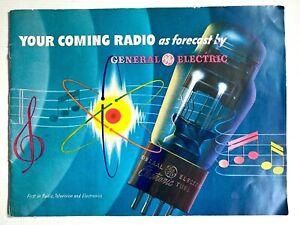 1944 G.E. GENERAL ELECTRIC vintage futuristic brochure YOUR COMING RADIO tubes