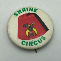 "1960's Vintage Shrine Circus Fez Graphics 1-3/4"" Badge Button Pin Pinback   P9"
