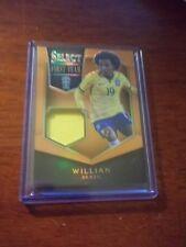 2015 Panini Select Soccer Willian Brazil 80/149 JERSEY FIRST TEAM ORANGE PRIZM