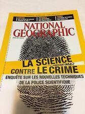 NATIONAL GEOGRAPHIC*07/2016*La SCIENCE contre le CRIME tec*Océan*CONGO*Antiquité