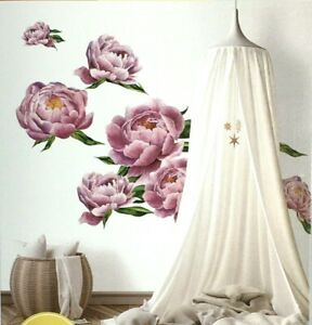 RoomMates Large Peony Pink Peel And Stick Wall Decals 15 Pc.