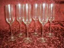 HOMEMAKER SET OF 6 WALES FLUTE GLASSES WINE OR CHAMPAGNE