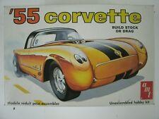 Vintage AMT 55 Corvette 1:25 Scale Model Car Kit #T287