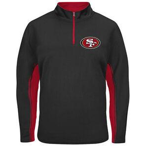 NFL Football Jacket San Francisco 49ers Defending Zone 1/4 Zip Synthetic Fleece