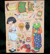 Vtg 90's Mary Englebreit October Magazine *Gracie* Halloween Paper Doll Uncut!