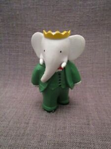 FIGURINE COLLECTION BABAR PLASTOY ALEXANDRE AVEC AVION 4,5 cm