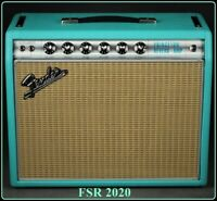 New Fender® FSR '68 Princeton Reverb Guitar Amplifier Teal w/Celestion Greenback