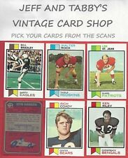 1973 TOPPS FOOTBALL YOU PICK FROM SCANS # 1 TO # 176