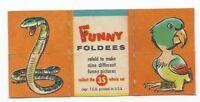 Vintage 1949 Topps Funny Foldees #35 Snake, Parrot, Baby