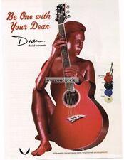 2000 DEAN Del Fuego Acoustic Guitar Vtg Print Ad