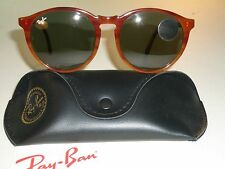 VINTAGE B&L RAY BAN 54[]18mm LIGHT TORTOISE ROUND TRADITIONALS SUNGLASSES NEW