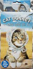 NEW Archie McPhee Cat Bonnet - Bonnet Hat for Your Kitty Cat! Very Cute! Kitten