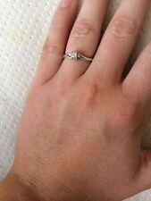 SILVER & DIAMOND RING - HALLMARKED