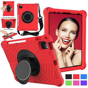 """For iPad 5 6th 7 8th 9.7"""" 10.2 Air Mini 54321 Pro 11 Kids EVA Case Stand w/Strap"""