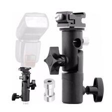 E Shape Flash Bracket Stand Universal Metal Speedlite Umbrella Holder For Camera