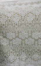 Vintage Lace  Waterproof Tablecloth Oilcloth PVC Pretty  Roses Design 5 m