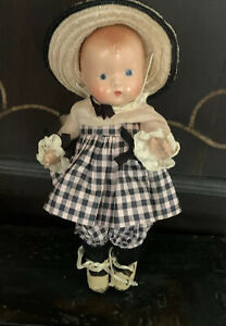 Effanbee Composition Doll - Baby Tinyette 8 Inch