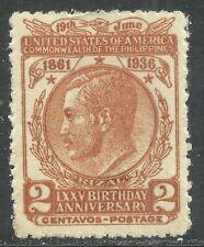 U.S. Possession Philippines stamp scott 402 - 2 cent 1936 issue - mh - x