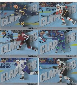 2019-20 UPPER DECK OVERTIME CLAPPERS a lot of 9 DIFFERENTS CARDS LOT39   a