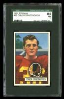 1951 Bowman #35 Chuck Drazenovich Washington Redskins SGC 84 / 7 NM