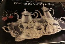 RARE VINTAGE SILVER PLATED TEA AND COFFEE SET NEW IN ORIGINAL BOX