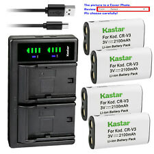 Kastar Battery LTD2 Charger for Kodak CRV3 EasyShare Z700 Z710 Z740 Z885 Z1275